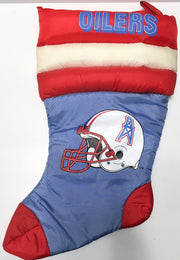 (TAS033695) - 1992 Team NFL Football Collectible Christmas Stocking - Oilers, , Other, NFL, The Angry Spider Vintage Toys & Collectibles Store  - 1