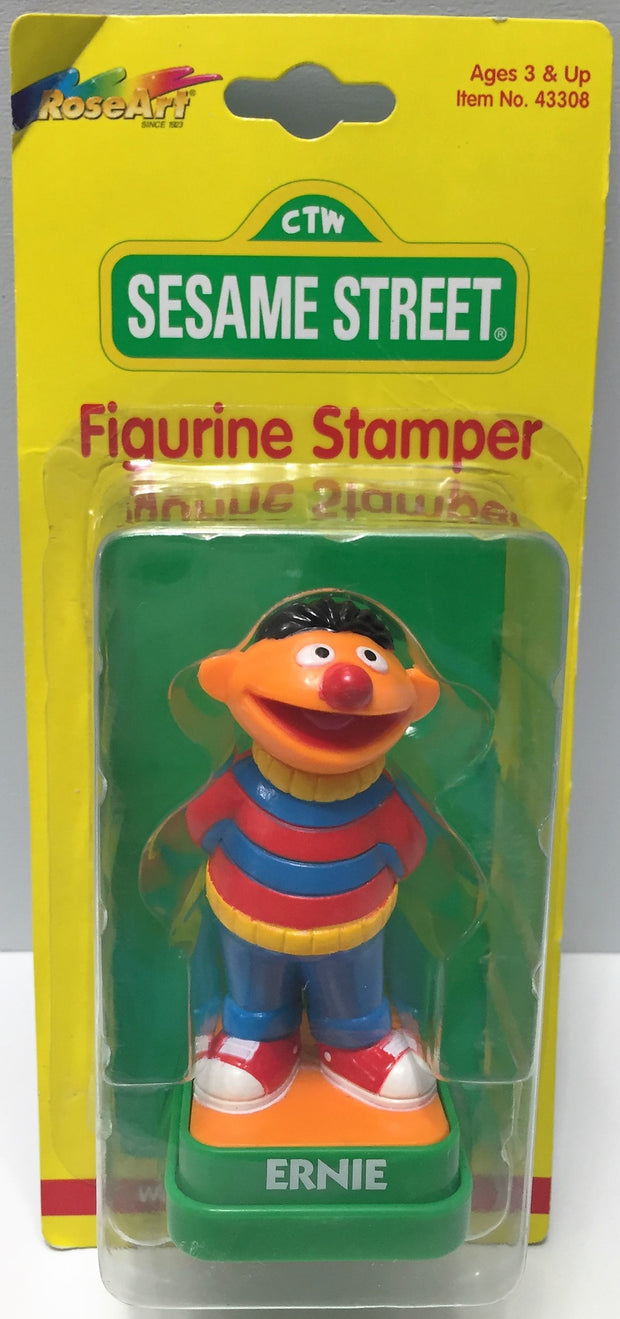 (TAS033697) - 1997 Rose Art Sesame Street Collectible Figurine Stamper - Ernie, , Stampers, Sesame Street, The Angry Spider Vintage Toys & Collectibles Store  - 1