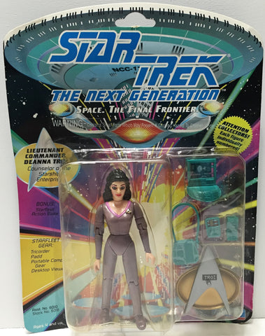 (TAS033702) - 1992 Playmates Star Trek The Next Generation Figure - Deanna Troi, , Action Figure, Star Trek, The Angry Spider Vintage Toys & Collectibles Store  - 1