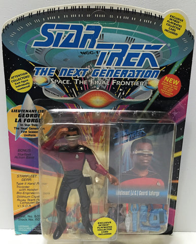 (TAS033703) - 1993 Playmates Star Trek The Next Generation Geordi Laforge, , Action Figure, Star Trek, The Angry Spider Vintage Toys & Collectibles Store  - 1