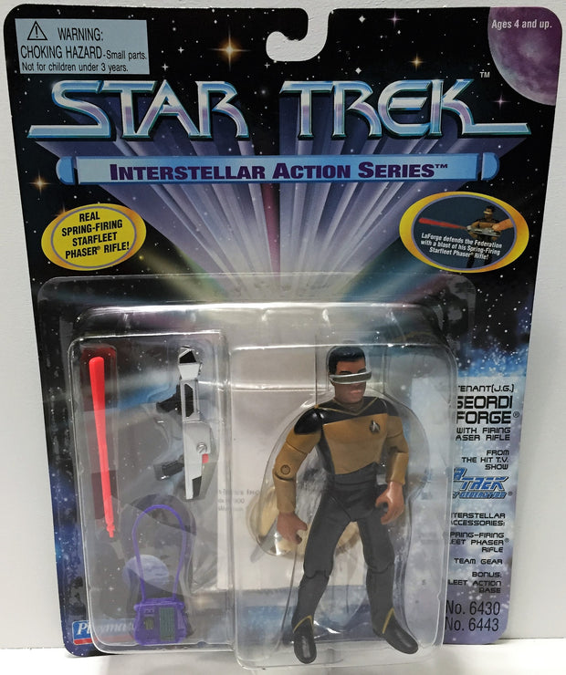 (TAS033704) - 1995 Playmates Star Trek Interstellar - Geordi Laforge, , Action Figure, Star Trek, The Angry Spider Vintage Toys & Collectibles Store  - 1