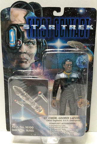 (TAS033706) - 1996 Playmates Star Trek First Contact - Geordi LaForge, , Action Figure, Star Trek, The Angry Spider Vintage Toys & Collectibles Store  - 1
