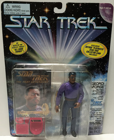 (TAS033709) - 1995 Playmates Star Trek The Next Generation - Geordi Laforge, , Action Figure, Star Trek, The Angry Spider Vintage Toys & Collectibles Store  - 1