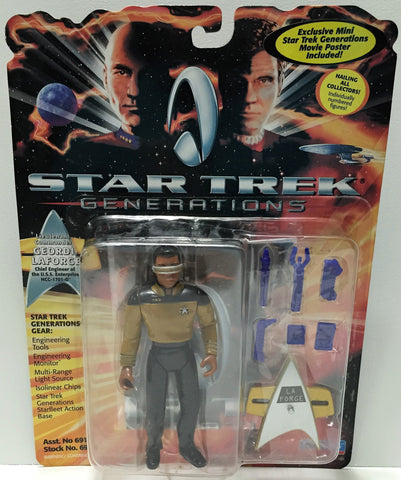 (TAS033713) - 1994 Playmates Star Trek Generations - Lt. Cmdr Geodi LaForge, , Action Figure, Star Trek, The Angry Spider Vintage Toys & Collectibles Store  - 1