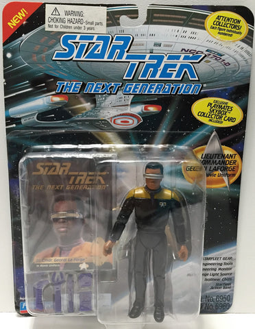 (TAS033714) - 1994 Playmates Star Trek The Next Generation - Geordi Laforge, , Action Figure, Star Trek, The Angry Spider Vintage Toys & Collectibles Store  - 1