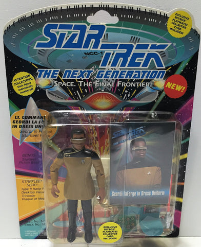 (TAS033715) - 1993 Playmates Star Trek The Next Generation - Geordi Laforge, , Action Figure, Star Trek, The Angry Spider Vintage Toys & Collectibles Store  - 1