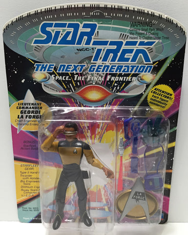 (TAS033716) - 1995 Playmates Star Trek The Next Generation - Geordi Laforge, , Action Figure, Star Trek, The Angry Spider Vintage Toys & Collectibles Store  - 1