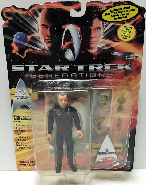 (TAS033723) - 1994 Playmates Star Trek Generations Action Figure - Dr. Soran, , Action Figure, Star Trek, The Angry Spider Vintage Toys & Collectibles Store  - 1