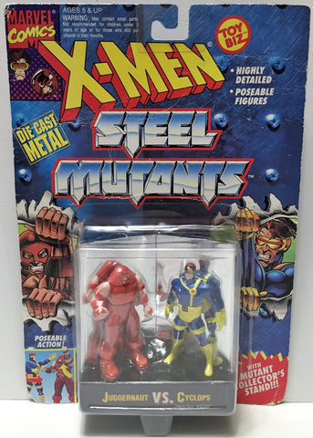 (TAS033724) - 1994 Toy Biz Marvel X-Men Steel Mutant Juggernaut VS. Cyclops, , Action Figure, X-Men, The Angry Spider Vintage Toys & Collectibles Store  - 1