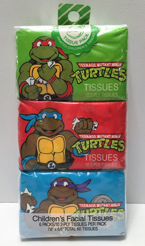 (TAS033729) - 1990 Mirage Teenage Mutant Ninja Turtles Collectible Tissues, , Bath, TMNT, The Angry Spider Vintage Toys & Collectibles Store  - 1