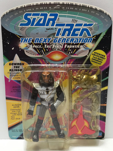 (TAS033731) - 1992 Playmates Star Trek The Next Generation - Gowron The Klingon, , Action Figure, Star Trek, The Angry Spider Vintage Toys & Collectibles Store  - 1