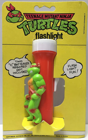 (TAS033742) - 1990 Happiness Teenage Mutant Ninja Turtles Flashlight - Raphael, , Lights, TMNT, The Angry Spider Vintage Toys & Collectibles Store  - 1