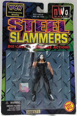 (TAS033743) - 1999 Toy Biz WCW nWo Wrestling Die-Cast Steel Slammers - Sting, , Action Figure, Wrestling, The Angry Spider Vintage Toys & Collectibles Store  - 1