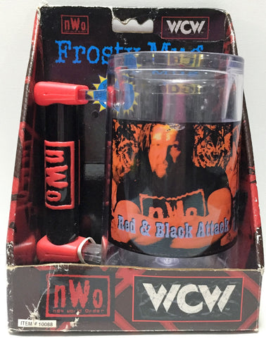 "(TAS033748) - 1999 BSI nWo WCW Wrestling Frosty Mug - ""Red and Black Attack"", , Drinkware, Wrestling, The Angry Spider Vintage Toys & Collectibles Store  - 1"