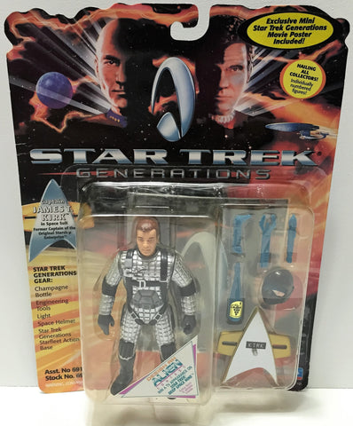 (TAS033750) - 1994 Playmates Star Trek Generations Action Figure - James T. Kirk, , Action Figure, Star Trek, The Angry Spider Vintage Toys & Collectibles Store  - 1