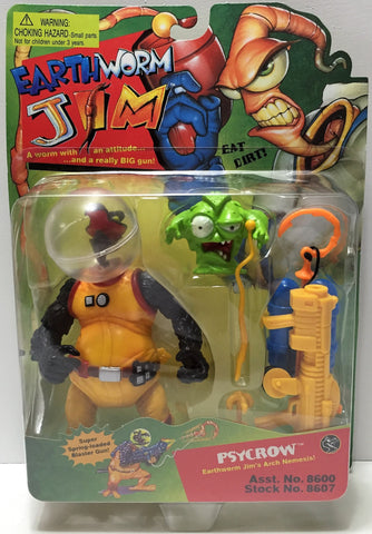 (TAS033766) - 1994 Playmates Earthworm Jim Action Vintage Figure - Psycrow, , Action Figure, Playmates, The Angry Spider Vintage Toys & Collectibles Store  - 1