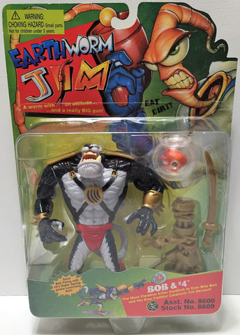 (TAS033771) - 1994 Playmates Earthworm Jim Vintage Action Figure - Bob and #4, , Action Figure, Playmates, The Angry Spider Vintage Toys & Collectibles Store  - 1