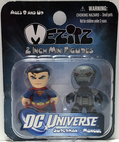 (TAS033792) - 2011 Mezco Toys Mez-Itz 2 inch Mini Figures - Superman & Mongul, , Action Figure, Mezco Toys, The Angry Spider Vintage Toys & Collectibles Store  - 1