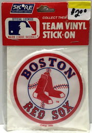 (TAS033796) - Skore MLB Baseball Team Vinyl Stick-On - Boston Red Sox, , Stickers, MLB, The Angry Spider Vintage Toys & Collectibles Store  - 1
