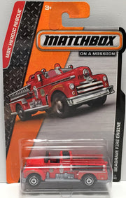 (TAS033810) - 2013 Mattel Matchbox On a Mission Car - Seagrave Fire Engine, , Trucks & Cars, Matchbox, The Angry Spider Vintage Toys & Collectibles Store  - 1