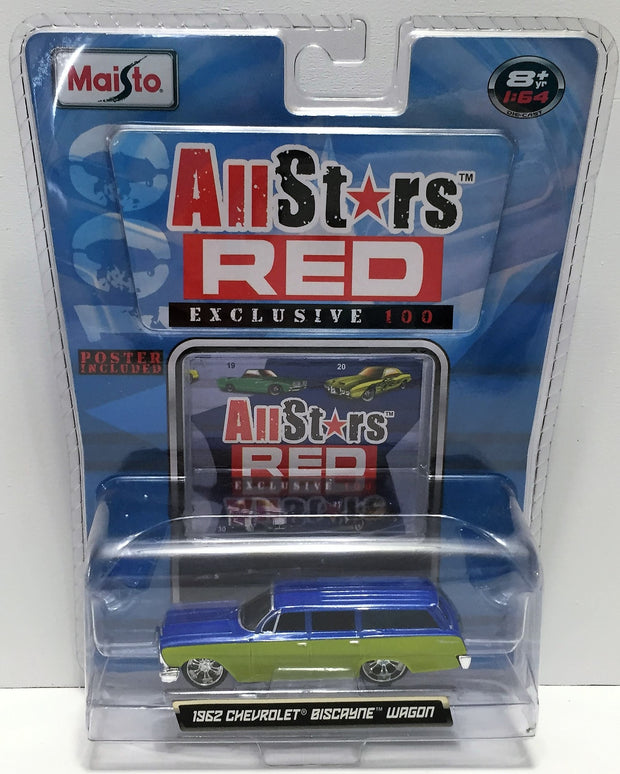 (TAS033818) - 2008 Maisto All Stars Red - 1962 Chevrolet Biscayne Wagon, , Trucks & Cars, Maisto, The Angry Spider Vintage Toys & Collectibles Store  - 1