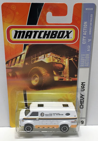 (TAS033825) - 2007 Mattel Matchbox City Action - Chevy Van Die-Cast, , Trucks & Cars, Matchbox, The Angry Spider Vintage Toys & Collectibles Store  - 1