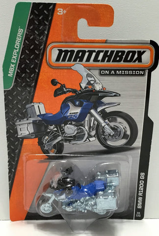 (TAS033838) - 2013 Mattel Matchbox On a Mission - BMW R1200 GS, , Trucks & Cars, Matchbox, The Angry Spider Vintage Toys & Collectibles Store  - 1