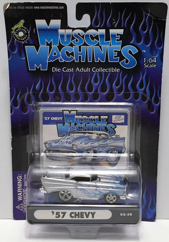 (TAS033847) - 2002 Funline Muscle Machines Die-Cast Adult Collection - '57 Chevy, , Trucks & Cars, Muscle Machines, The Angry Spider Vintage Toys & Collectibles Store  - 1
