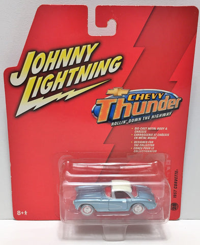 (TAS033855) - 2006 Johnny Lightning Chevy Thunder Car - 1957 Corvette, , Trucks & Cars, Johnny Lightning, The Angry Spider Vintage Toys & Collectibles Store  - 1