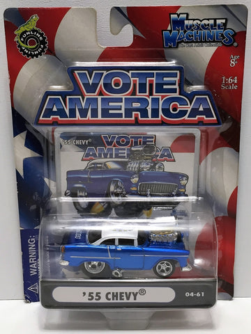 (TAS033856) - 2004 Funline Muscle Machines Vote America - '55 Chevy, , Trucks & Cars, Muscle Machines, The Angry Spider Vintage Toys & Collectibles Store  - 1