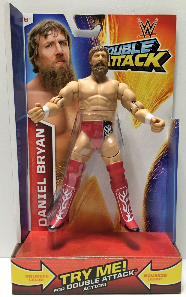 (TAS033905) - 2014 Mattel WWE Wrestling Double Attack Figure - Daniel Bryan, , Action Figure, Wrestling, The Angry Spider Vintage Toys & Collectibles Store  - 1
