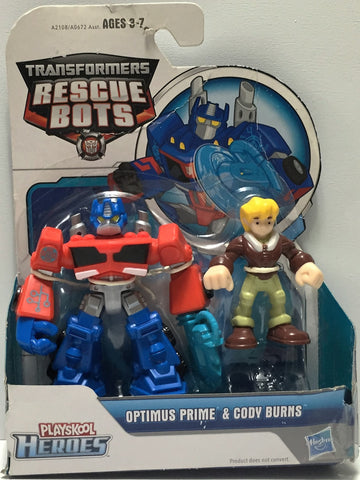 (TAS033907) - 2014 Hasbro Transformers Rescue Bots - Optimus Prime & Cody Burns, , Action Figure, Transformers, The Angry Spider Vintage Toys & Collectibles Store  - 1