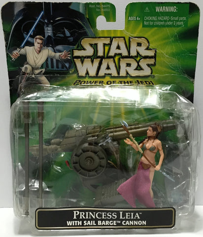 (TAS033908) - 2001 Hasbro Star Wars Power of the Jedi Action Set - Princess Leia, , Action Figure, Star Wars, The Angry Spider Vintage Toys & Collectibles Store  - 1
