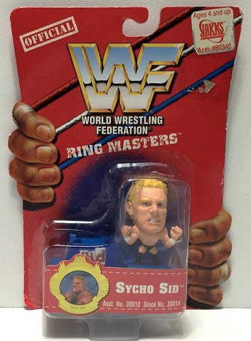 (TAS033932) - 1997 Titan Sports WWF Official Wrestling Ring Masters - Sycho Sid, , Action Figure, Wrestling, The Angry Spider Vintage Toys & Collectibles Store  - 1