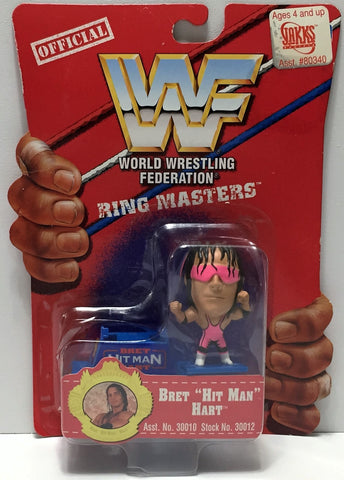 (TAS033943) - 1997 Titan Sports WWF Wrestling Ring Masters - Brett Hart, , Action Figure, Wrestling, The Angry Spider Vintage Toys & Collectibles Store  - 1