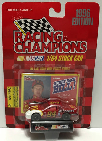 (TAS033957) - 1996 Racing Champions NASCAR Die-Cast Stock Car - Bill Elliott, , Trucks & Cars, Racing Champions, The Angry Spider Vintage Toys & Collectibles Store  - 1