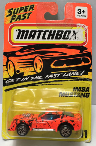 "(TAS034013) - 1994 Matchbox ""Get in the Fast Lane"" - IMSA Mustang, , Trucks & Cars, Matchbox, The Angry Spider Vintage Toys & Collectibles Store  - 1"
