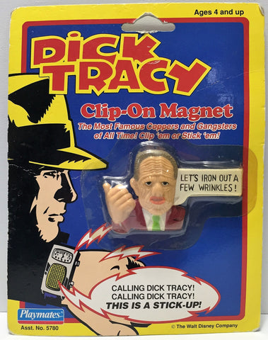 "(TAS034042) - 1990 Playmates Dick Tracy Magnet ""Let's iron out a few wrinkles!"", , Magnets, Playmates, The Angry Spider Vintage Toys & Collectibles Store  - 1"