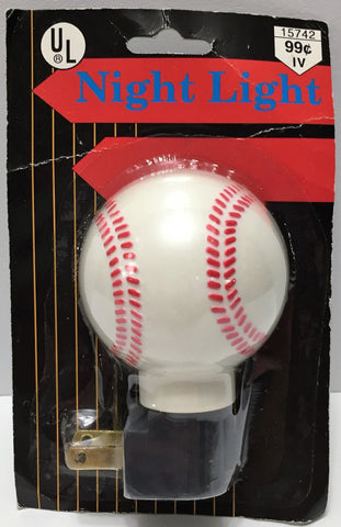 (TAS034043) - Collectible Baseball Shaped Night Light, , Lights, Baseball, The Angry Spider Vintage Toys & Collectibles Store  - 1