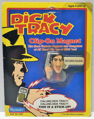 "(TAS034045) - 1990 Playmates Dick Tracy Clip-On Magnet - ""So Long Sucker!"", , Magnets, Playmates, The Angry Spider Vintage Toys & Collectibles Store  - 1"