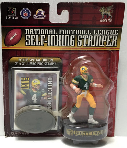 (TAS034053) - 1999 NFLP NFL Self-Inking Stamper - Brett Favre, , Stampers, NFL, The Angry Spider Vintage Toys & Collectibles Store  - 1