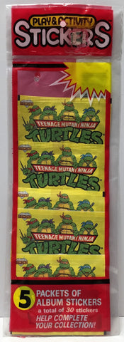 (TAS034063) - Teenage Mutant Ninja Turtles Packets of Album Sticker - 5, , Stickers, TMNT, The Angry Spider Vintage Toys & Collectibles Store  - 1