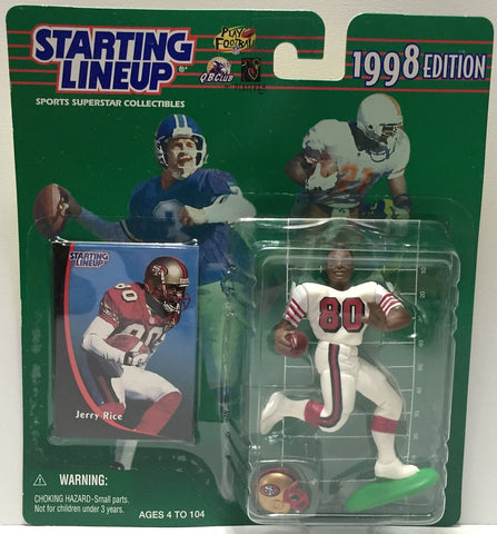 (TAS034070) - 1998 Hasbro Starting Lineup Sports Superstar - Jerry Rice, , Action Figure, Starting Lineup, The Angry Spider Vintage Toys & Collectibles Store  - 1