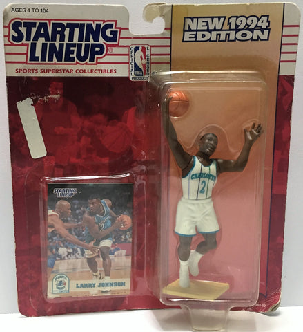 (TAS034071) - 1994 Kenner Starting Lineup Sports Superstar - Larry Johnson, , Action Figure, Starting Lineup, The Angry Spider Vintage Toys & Collectibles Store  - 1