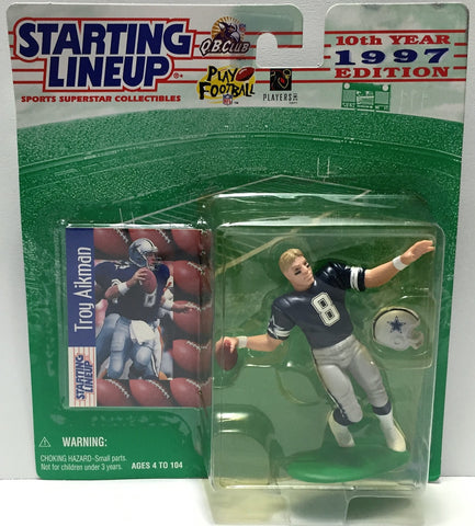 (TAS034096) - 1997 Hasbro Starting Lineup Sports Superstar - Troy Aikman, , Action Figure, Starting Lineup, The Angry Spider Vintage Toys & Collectibles Store  - 1