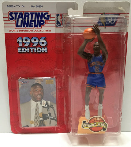 (TAS034103) - 1996 Hasbro Starting Lineup Sports Superstar - Larry Johnson, , Action Figure, Starting Lineup, The Angry Spider Vintage Toys & Collectibles Store  - 1