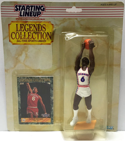 (TAS034107) - 1989 Kenner Starting Lineup Sports Superstar - Julius Erving, , Action Figure, Starting Lineup, The Angry Spider Vintage Toys & Collectibles Store  - 1