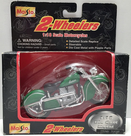 (TAS034131) - 1999 Maisto International 2-Wheelers Die-Cast Motorcycles - Indian, , Trucks & Cars, Maisto, The Angry Spider Vintage Toys & Collectibles Store