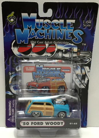(TAS034137) - 2001 Funline Muscle Machines Die-Cast Car - '50 Ford Woody, , Trucks & Cars, Funline Merchandise, The Angry Spider Vintage Toys & Collectibles Store  - 1