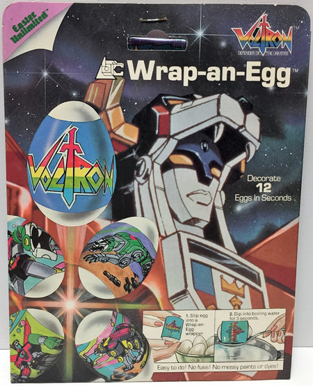 (TAS034165) - 1985 Easter Limited Voltron Wrap-an-Egg - 12 Egg Wraps, , Holiday, Voltron, The Angry Spider Vintage Toys & Collectibles Store  - 1